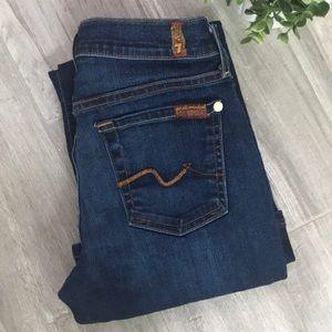 7FAMK Women's Bootcut Jeans, Size 25
